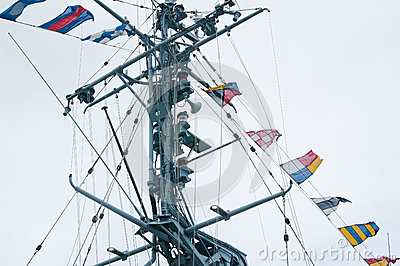 Mast of the military ship