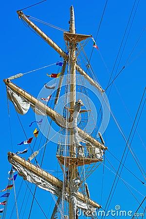 Free Mast Of A Sailing Ship Royalty Free Stock Photos - 79067388