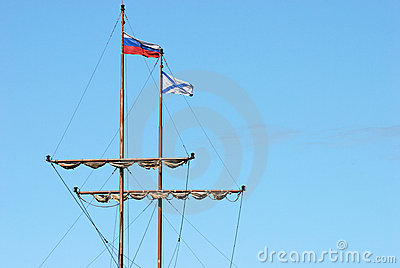 Mast of old ship
