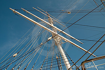 Mast of sailing ship