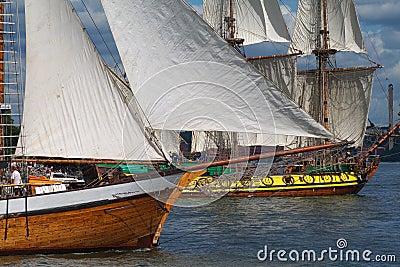Masted sailing ships