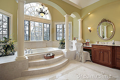 Master Bath With Columns Royalty Free Stock Image Image