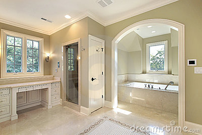 Master bath with separate bath