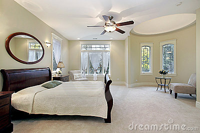Master bedroom in luxury home