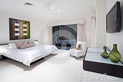 Master bedroom in luxury mansion