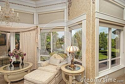 Master Bedroom Sitting Area Royalty Free Stock Photo - Image: 18520695