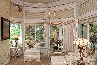Master Bedroom Sitting Area Royalty Free Stock Images - Image ...
