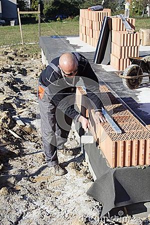 Free Master Bricklayer Stock Image - 5244401