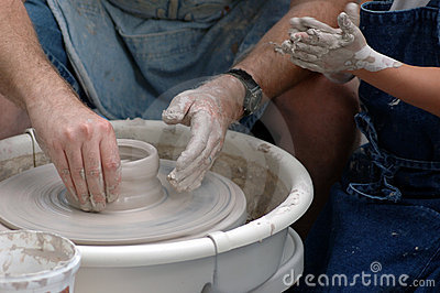Master Potter and Student