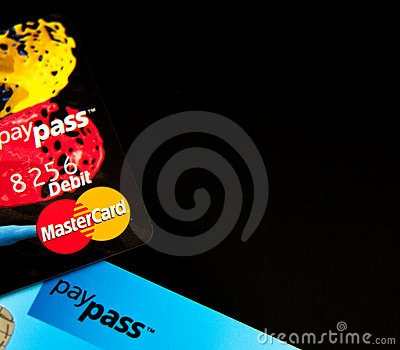 Masterdard PayPass credit cards Editorial Stock Image