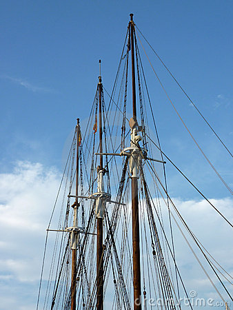 Masts of a historical boat