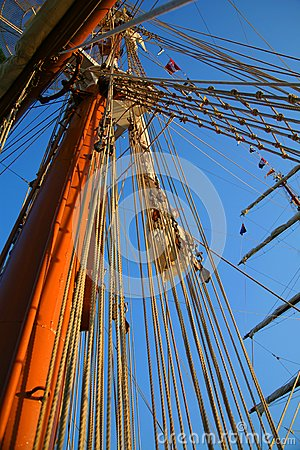 Masts and sky