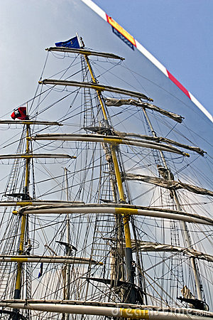 Masts of tall sailing ships