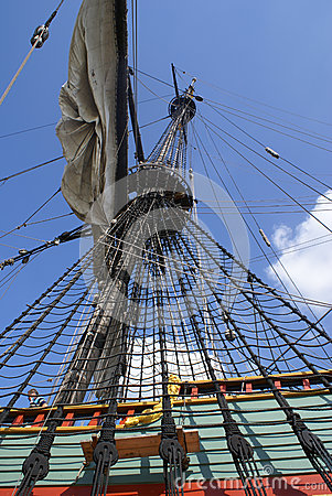 Free Masts With Sails On A Large Sailing Ship Royalty Free Stock Photo - 47519085