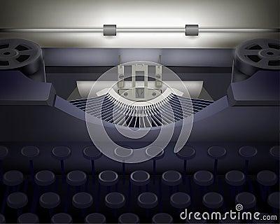Maszyna do pisania.  Wektorowa ilustracja.