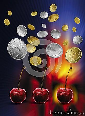 Maszyny owoców szczeliny