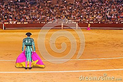 Matador in bullfighting arena at Madrid Editorial Photo