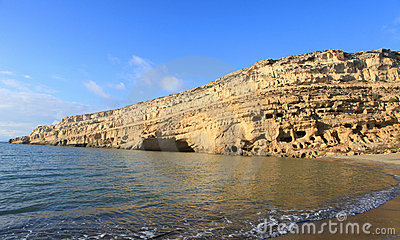 Matala beach afternoon
