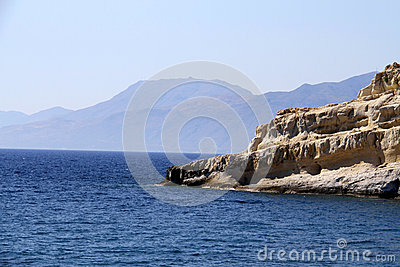 Matala beach in Crete