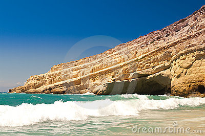 Matala beach. Crete. Greece.