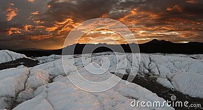 Matanuska Glacier sunset, pano