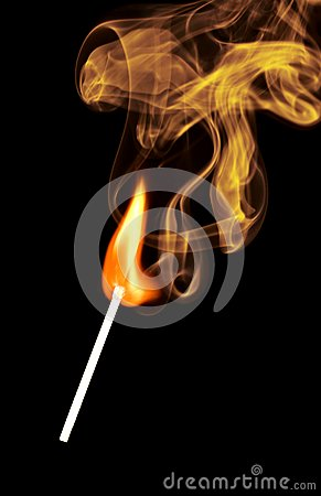 Match Fire Smoke Stock Photo - Image: 6361610