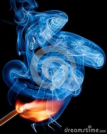 A match ignites