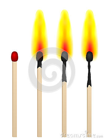 Free Match On Fire Stock Images - 52633344