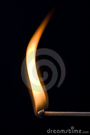 Free Match On Fire Stock Image - 7428841