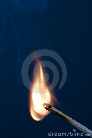 Free Match On Fire Royalty Free Stock Photography - 7429027