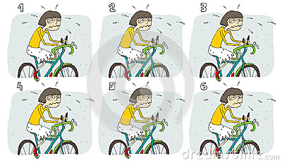 Match Pairs Visual Game: Bike