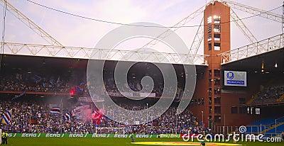 Before the match Sampdoria - Inter Editorial Stock Image