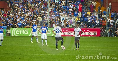Before the match Sampdoria - Inter Editorial Stock Photo