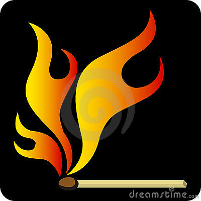 Match stick flame