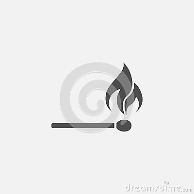 Free Match Stick With Fire Vector Icon Stock Images - 97595764