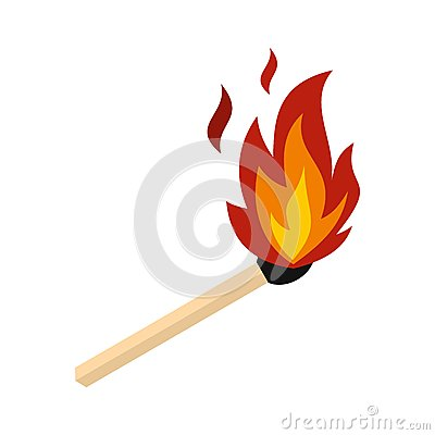 Free Match With Fire Icon, Flat Style Royalty Free Stock Image - 88041946