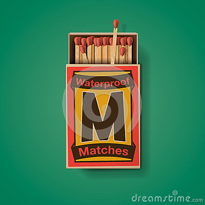 Free Matchbox And Matches, Top View Stock Images - 63975974
