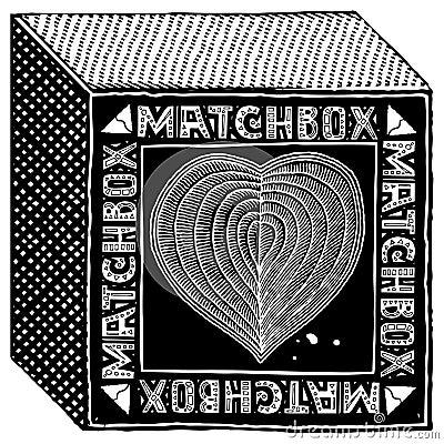 Free Matchbox Black Woodcut Royalty Free Stock Photography - 19433997