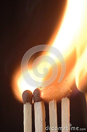 Free Matches 3 Stock Image - 3021341