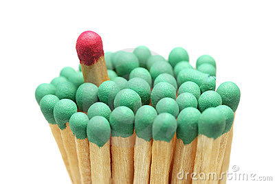 Matches closeup isolated