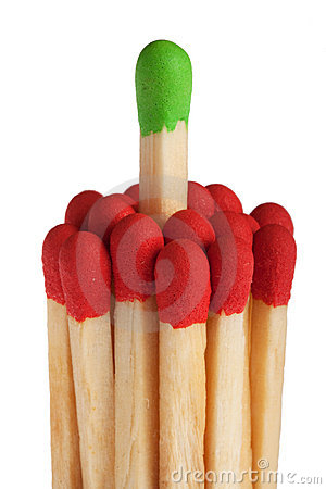 Free Matches - Green Leadership Concept Stock Images - 15974564