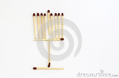 Matches Hanukkah