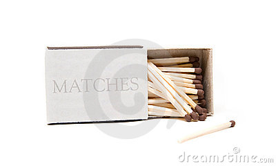 Matches in opened box