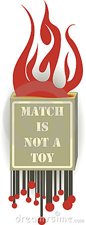 Matches warning