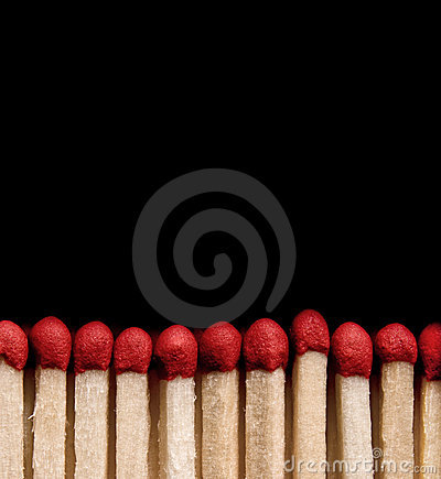 Free Matchsticks On Black Stock Image - 3476771