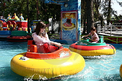 Matejska fair - bumping boat Editorial Stock Photo