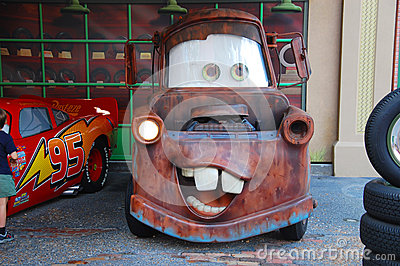 Mater from Cars Editorial Photography