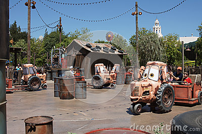 Mater Ride at California Adventure Editorial Photography
