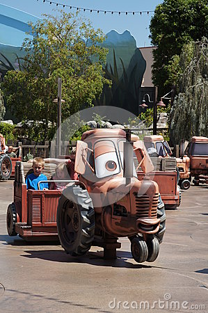 Mater Ride at California Adventure Editorial Stock Photo