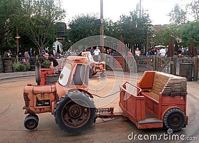 Tow Maters Junkyard Jamboree ride at Disneys Calif Editorial Stock Photo